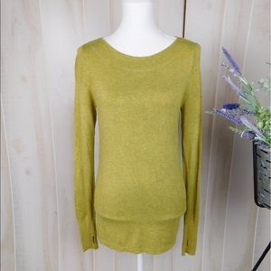 Eileen Fisher Green Long Sleeve Viscose Sweater